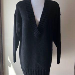 Vintage Paul Et Duffier Deep V-Neck Long Sweater